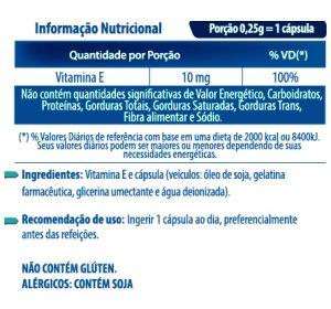 VITAMINA E COM 60 CÁPSULAS 210MG - FORTVITTA