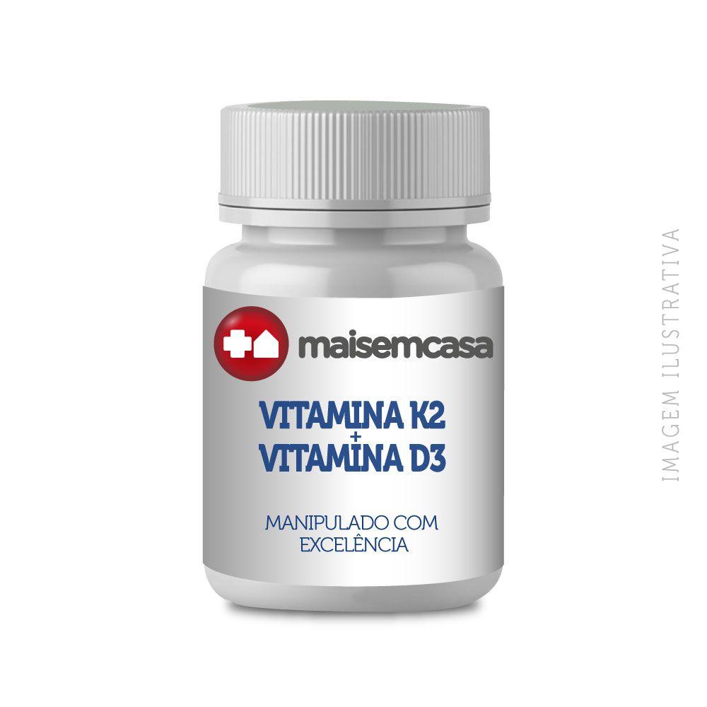 Vitamina K2 Mk7 100mcg + Vitamina D3 2000ui 60 Cápsulas