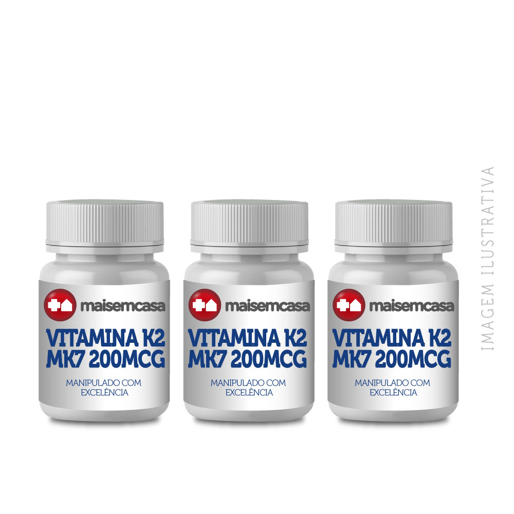 Vitamina K2 Mk7 200mcg 90 Cps Manipulado (3x30)