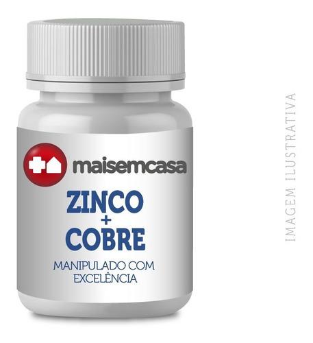 Zinco Quelato 25mg + Cobre Quelato 5mg - 60 Cápsulas