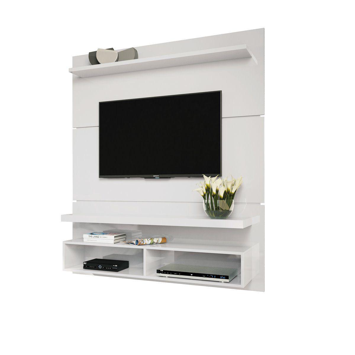 "Painel p/ TV 50"" Home Suspenso Life 1.3 HB Móveis Branco"