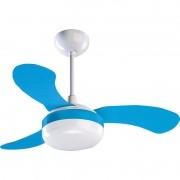 Ventilador Ventisol Teto Petit Azul 3 Pas - 127V