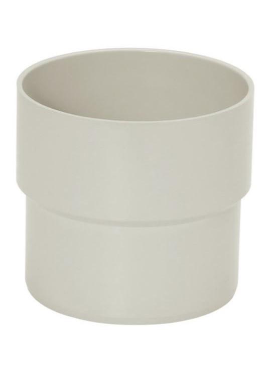 Acoplamento PVC Pluvial Circular - Cinza