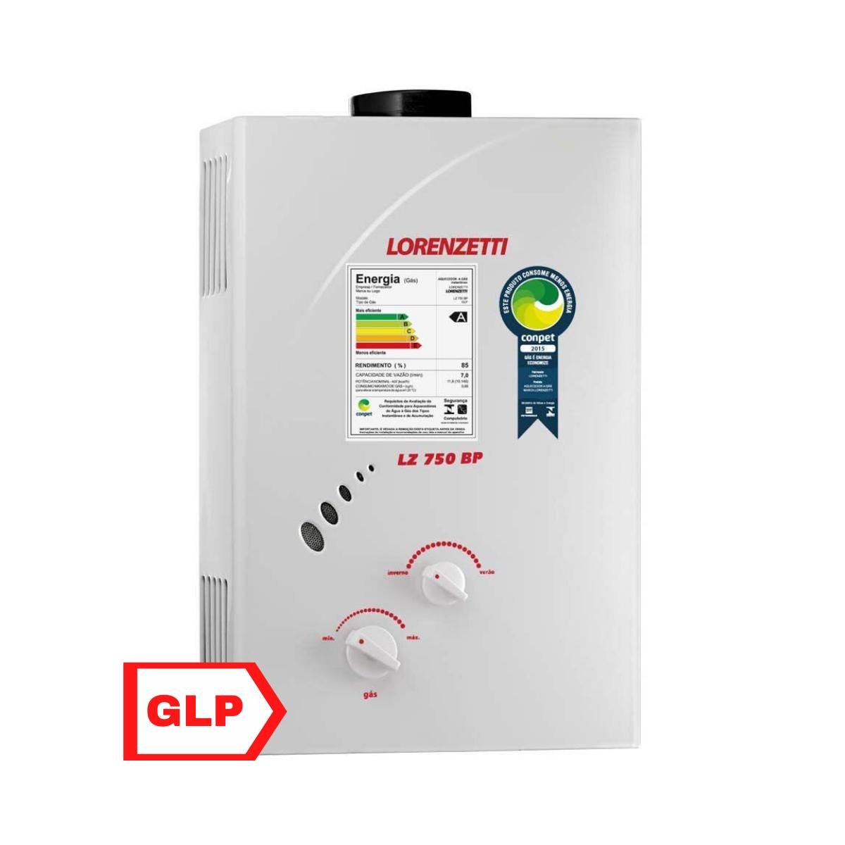 Aquecedor .de Agua a Gas LZ-750 BP (GLP) - Lorenzetti