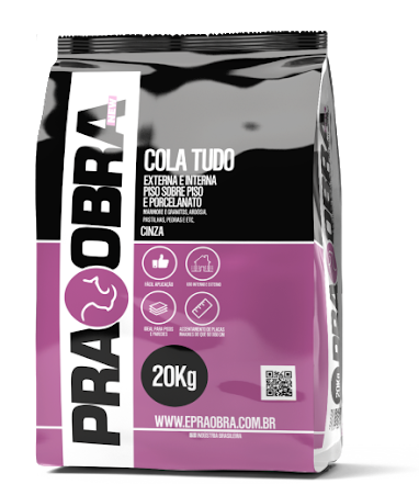 Argamassa Praobra ColaTudo Cor Cinza - 20Kg