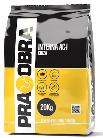 Argamassa Praobra Interna AC-I Cor Cinza - 20Kg