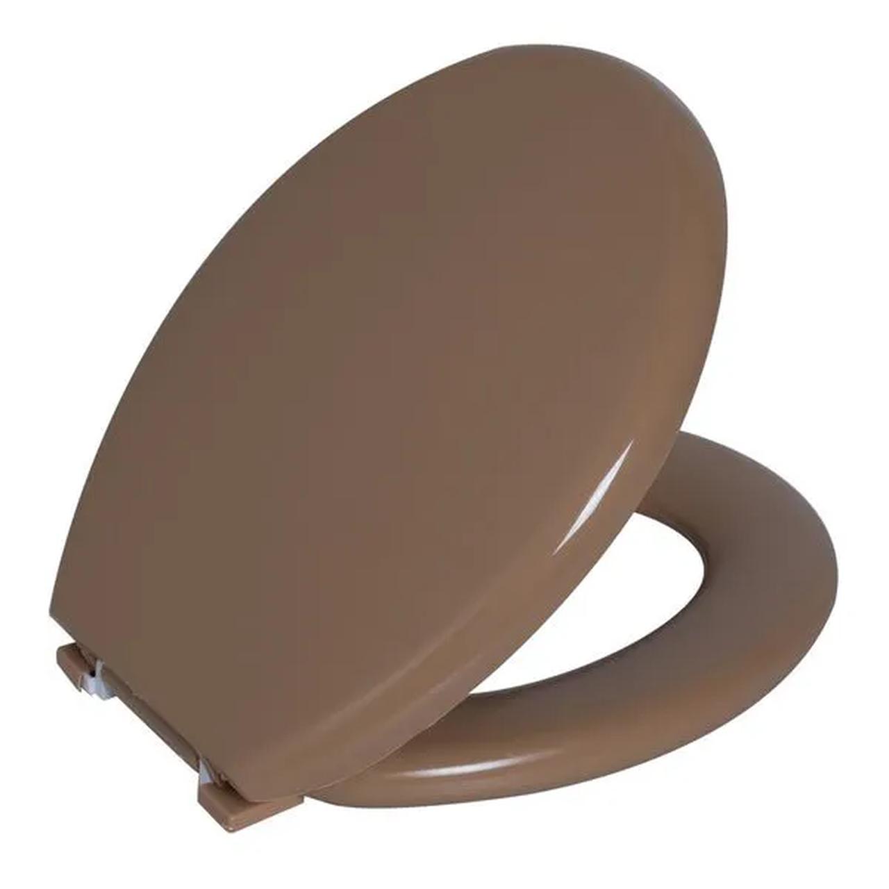 Assento Sanitario Astra Oval Almofadado TPK/AS - Bege 7 (BG7)