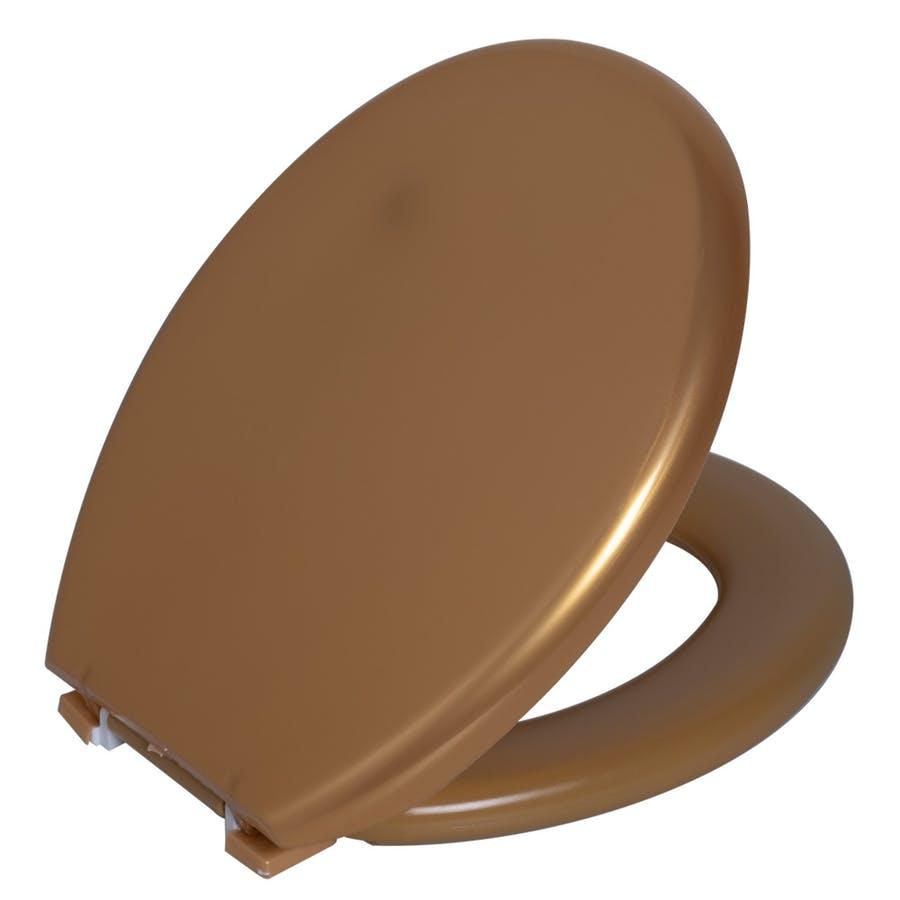 Assento Sanitario Astra Oval Almofadado TPK/AS - Metalizado Ouro (OUR)