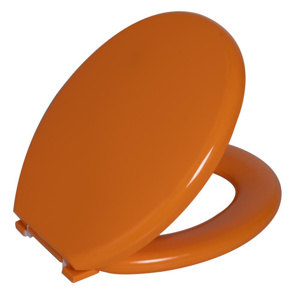 Assento Sanitario Astra Oval Almofadado TPK/AS - Tangerina (TAN)