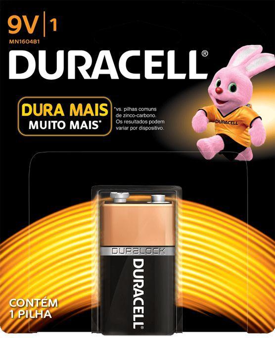Bateria Duracell Alcalina 9V