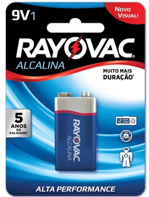 Bateria Rayovac Alcalina 9V
