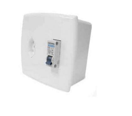 Caixa de Embutir para Ar Condicionado com Tomada 20A com Disjuntor 25A - Ilumi