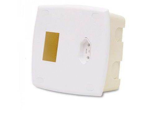 Caixa de Embutir para Ar Condicionado com Tomada 20A .sem Disjuntor - Ilumi