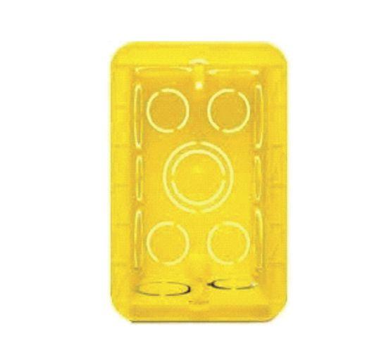 Caixa de Luz 4 X 2 Comum - Amarela