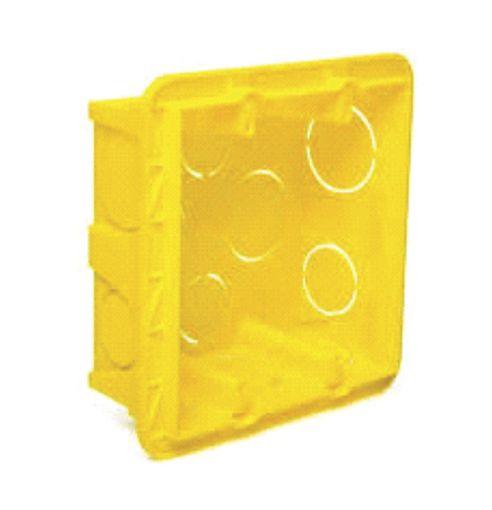 Caixa de Luz 4 X 4 Comum - Amarela