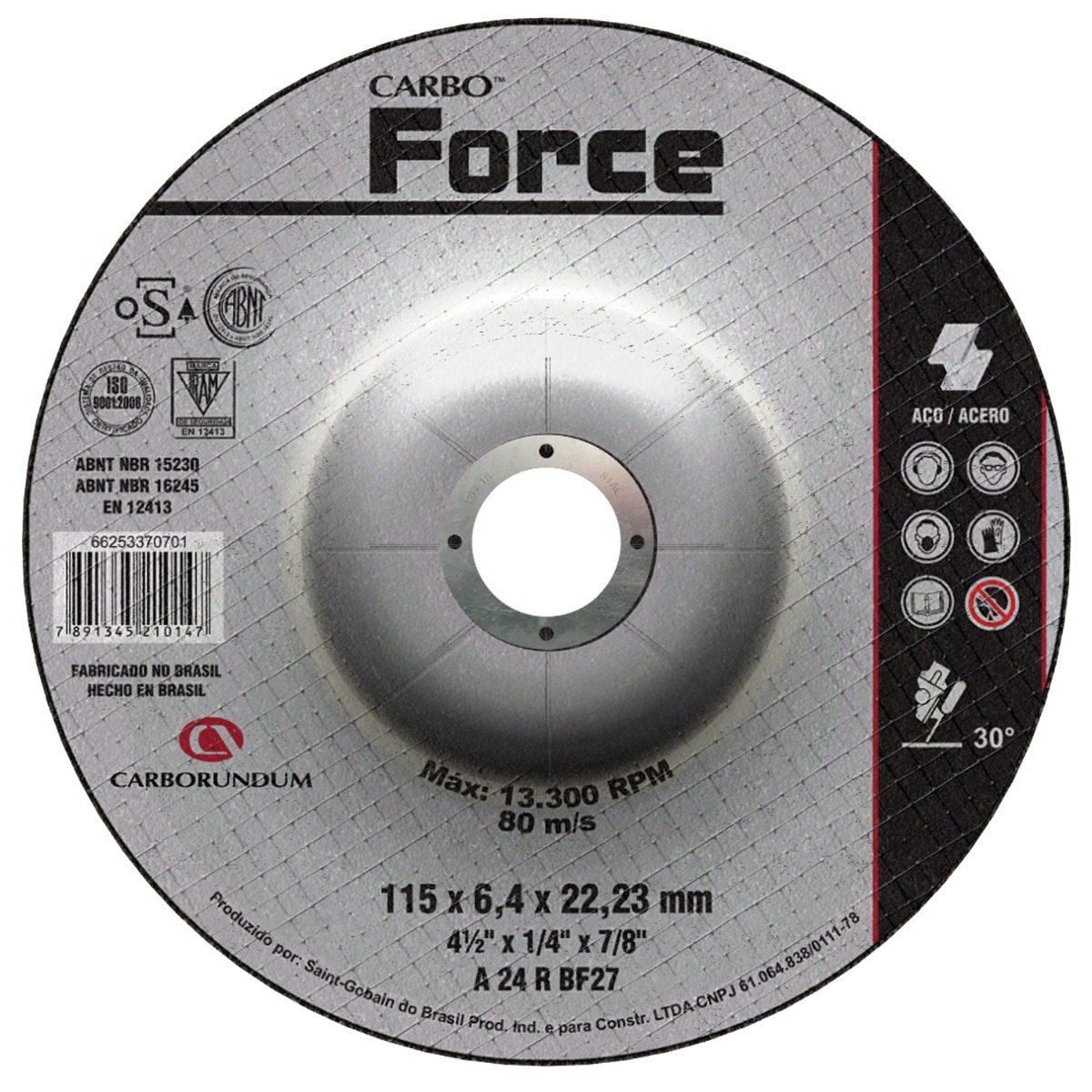 Disco Debaste Metal\Ferro 115mm X 6.4mm