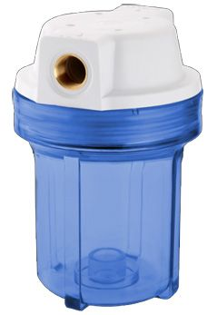 "Filtro para Agua 5"" Azul sem Refil Rosca 1/2 *******"
