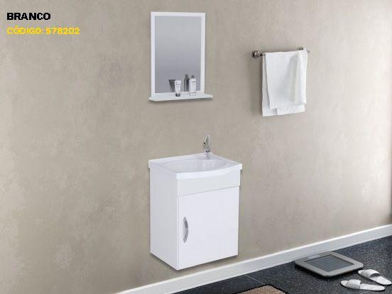 Gabinete Banheiro Siena com espelho 39cm