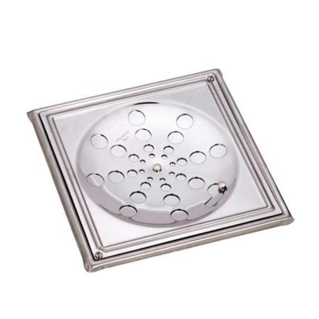 Grelha Aco Inox 430 Quadrada com Caixilho 10 X 10cm