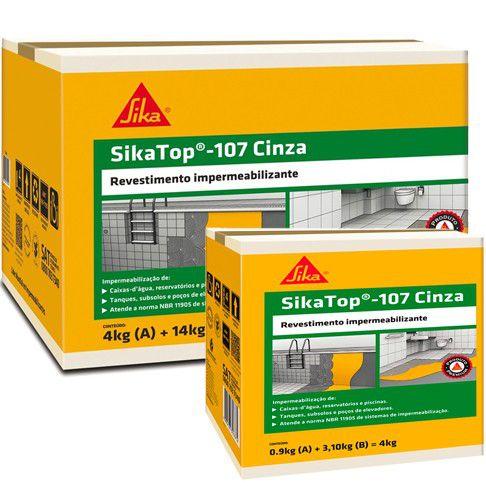 Impermeabilizante Sika Top 107 Cinza