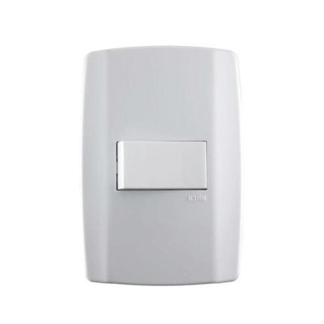 Interruptor Ilumi Slim 1 Seção com Placa - Ref. 80173