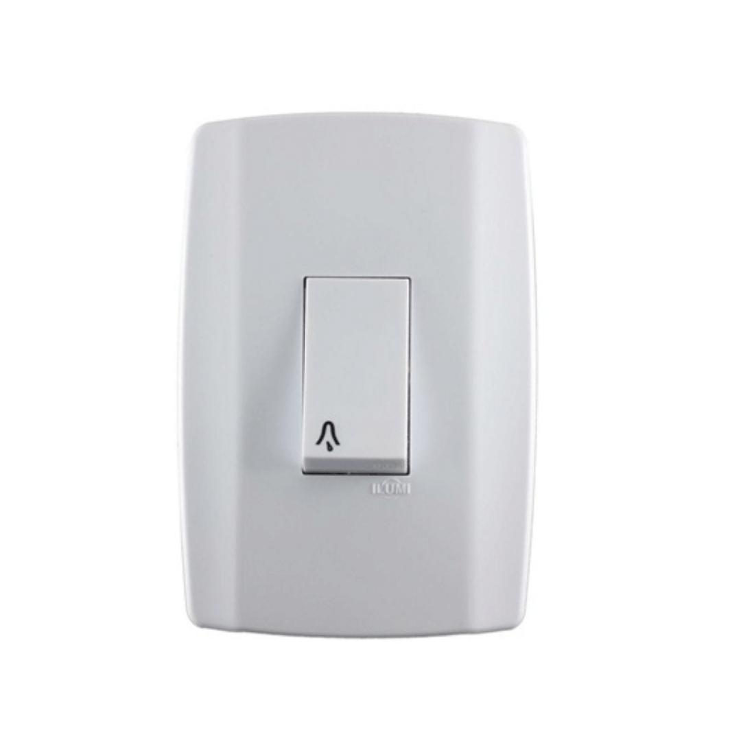 Interruptor Ilumi Slim Pulsador Campainha 10A X 250V com Placa - Ref. 8013