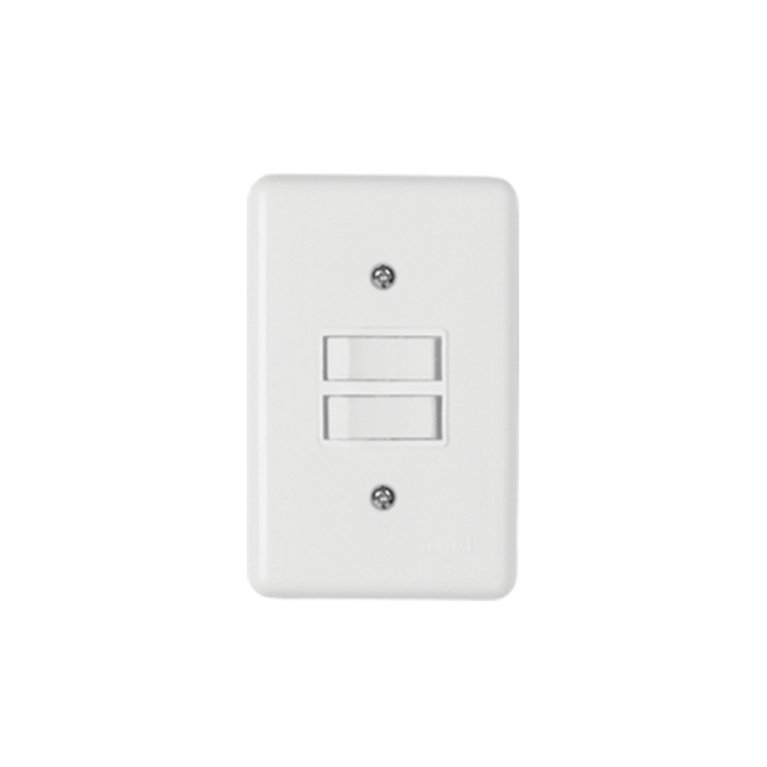 Interruptor Ilumi Stylus 2 Seção com Placa - Ref.2018