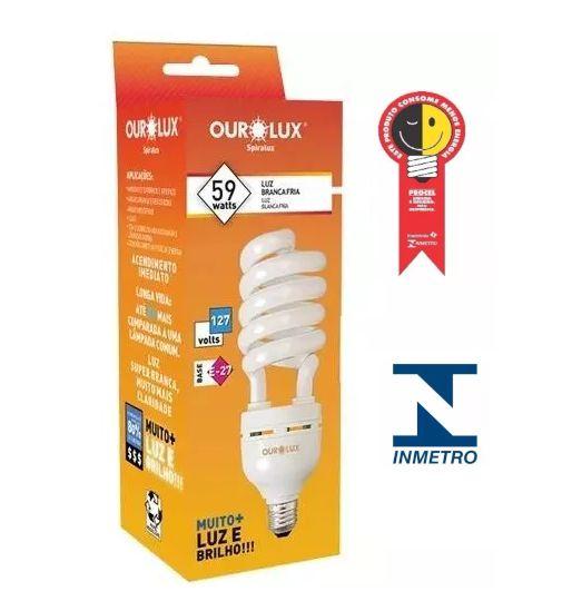 Lampada Ourolux Fluor Espiral Luz Branca 59WX127V