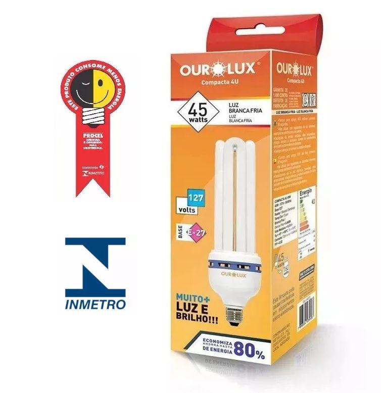 Lampada Ourolux Fluor Luz Branca 45W X 127V (4U)