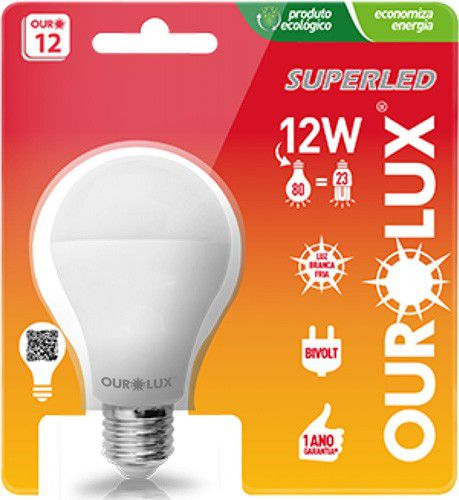 Lampada Ourolux Super Led 12W Bivolt