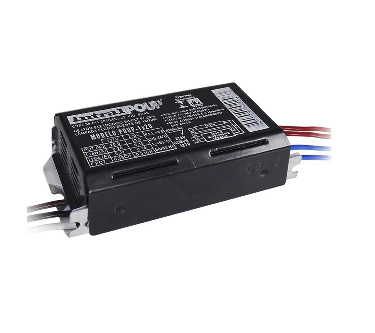 Reator Intral Eletronico 1 X 20W