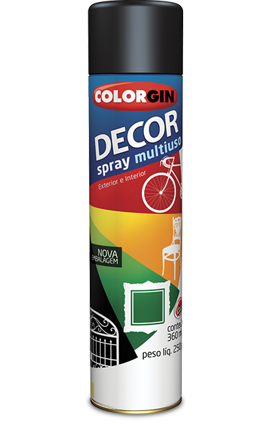 Tinta Spray Colorgin Decor Multiuso 360ml