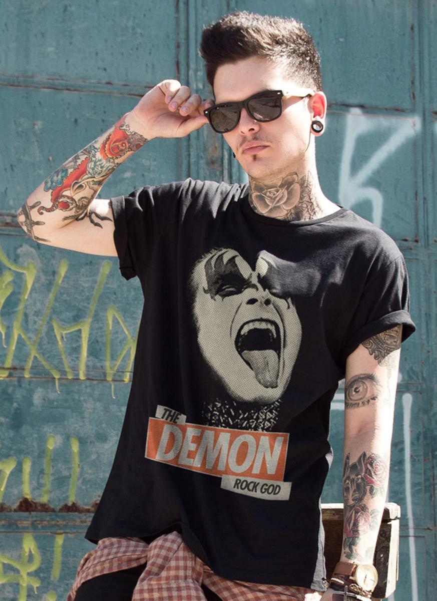 T-shirt Kiss Rock God Basic