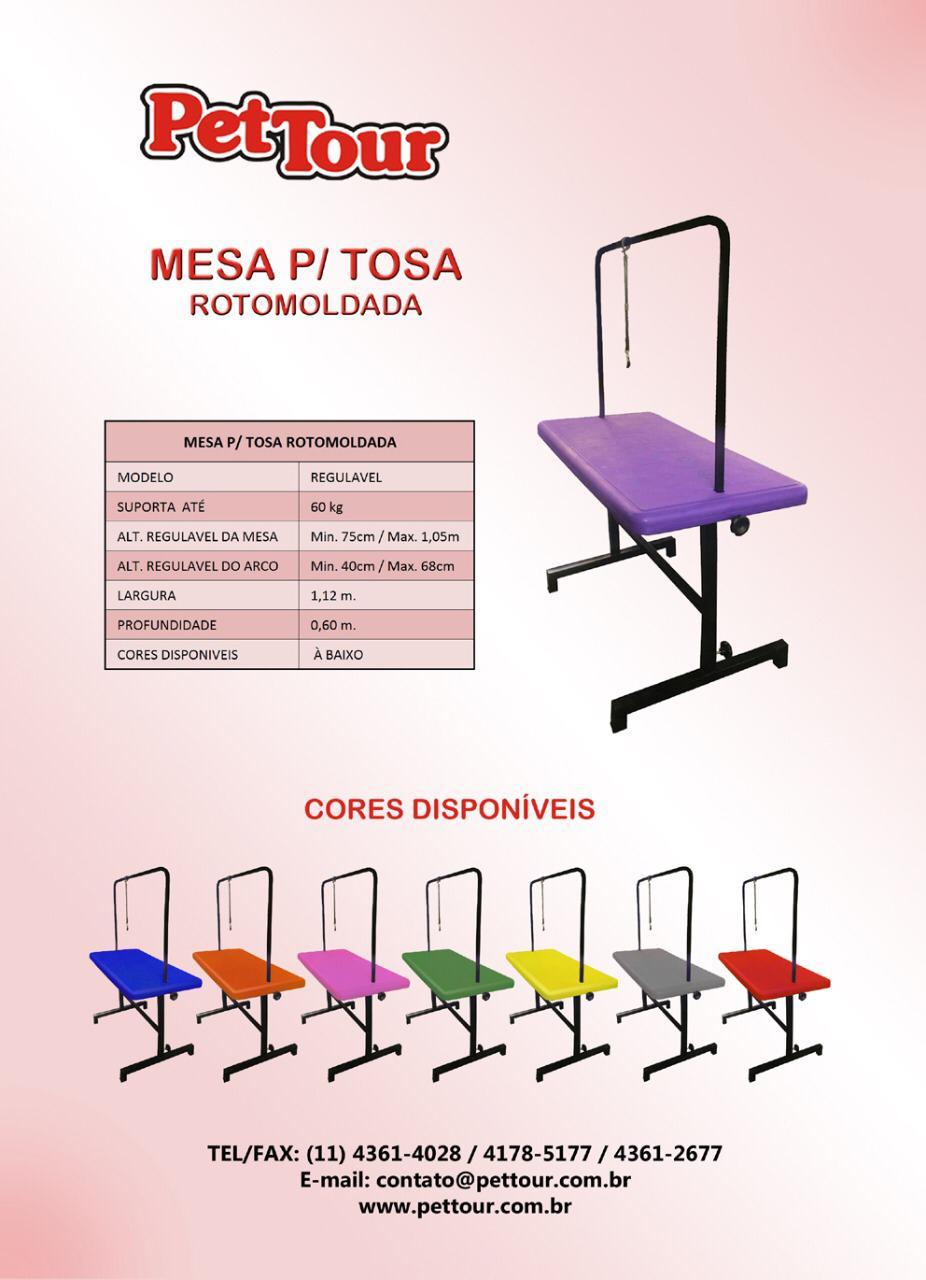 Mesa para Tosa em Polietileno Regulavel