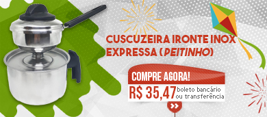 "Cuscuzeira Ironte Inox Expressa ""Peitinho"""