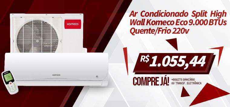 Ar Condicionado Split High Wall Komeco Eco 9.000 BTUs Quente/Frio 220v