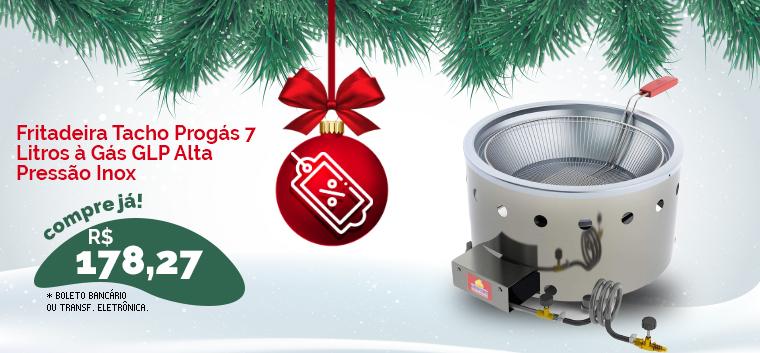 Fritadeira Tacho Progás 7 Litros à Gás GLP Alta Pressão Inox