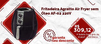 fritadeira agratto air fryer sem Óleo af-02 220v