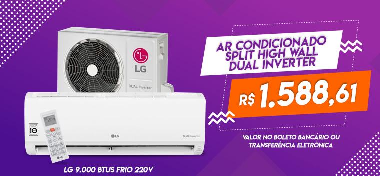 Ar Condicionado Split High Wall Dual Inverter LG 9.000 BTUs Frio 220v