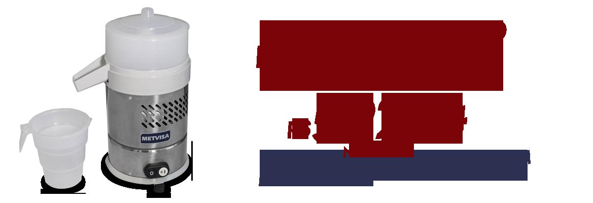 Extrator de Suco Industrial Inox Com Suporte ESSP Bivolt 1/4 CV Metvis