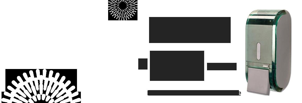 Saboneteira com Reservatório Premisse Urban 400ml Glass Verde