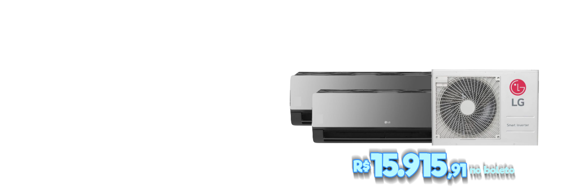 Ar Condicionado Multi Inverter LG 36.000 BTUS Q/F 220V +2x Art Cool com Display+Wi-Fi 24.000 BTUS