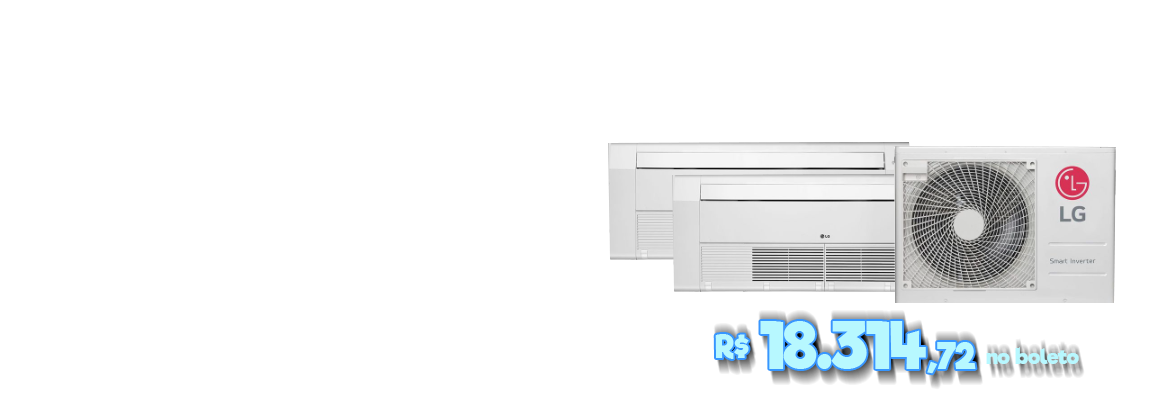 Ar Condicionado Multi Inverter LG 36.000 BTUS Q/F 220V +2x Cassete 1 Via 18.000 BTUS