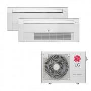 Ar Condicionado Multi Split Inverter LG 18.000 BTUS Quente/Frio 220V +2x Cassete 1 Via LG 12.000 BTUS