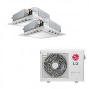 Ar Condicionado Multi Split Inverter LG 18.000 BTUS Quente/Frio 220V +2x Cassete 4 Vias LG 9.000 BTUS