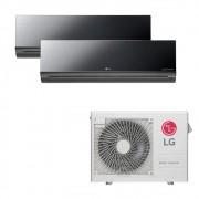 Ar Condicionado Multi Split Inverter LG 18.000 BTUS Quente/Frio 220V +2x High Wall LG Art Cool 12.000 BTUS