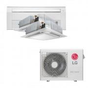 Ar Condicionado Multi Split Inverter LG 24.000 BTUS Quente/Frio 220V +1x Cassete 1 Via LG 9.000 BTUS +1x Cassete 4 Vias LG 9.000 BTUS +1x Cassete 4 Vias LG 12.000 BTUS