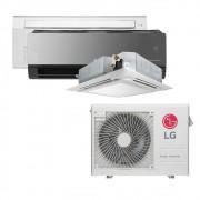 Ar Condicionado Multi Split Inverter LG  24.000 BTUS Quente/Frio 220V +1x Cassete 1 Via  9.000 BTUS +1x Cassete 4 Vias  9.000 BTUS +1x HW  Art Cool com Display e Wi-Fi 18.000 BTUS