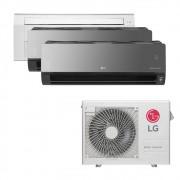 Ar Condicionado Multi Split Inverter LG 24.000 BTUS Quente/Frio 220V +1x Cassete 1 Via LG 9.000 BTUS +2x High Wall LG Art Cool com Display e Wi-Fi 12.000 BTUS