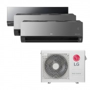 Ar Condicionado Multi Split Inverter LG 24.000 BTUS Quente/Frio 220V +1x High Wall LG Art Cool 12.000 BTUS +2x High Wall LG Art Cool com Display e Wi-Fi 12.000 BTUS